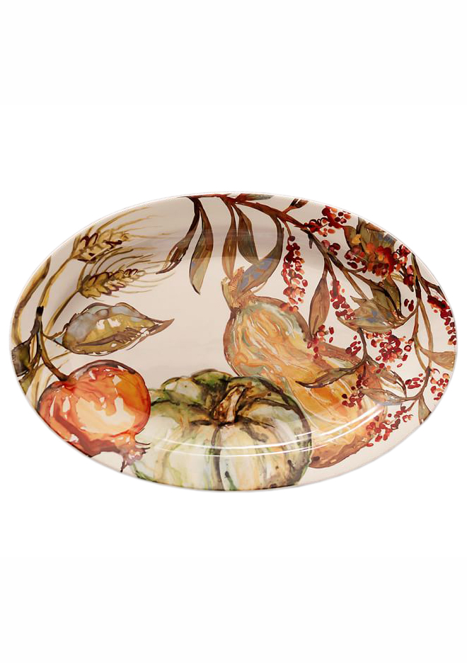 Watercolor Pumpkin Serving Platter