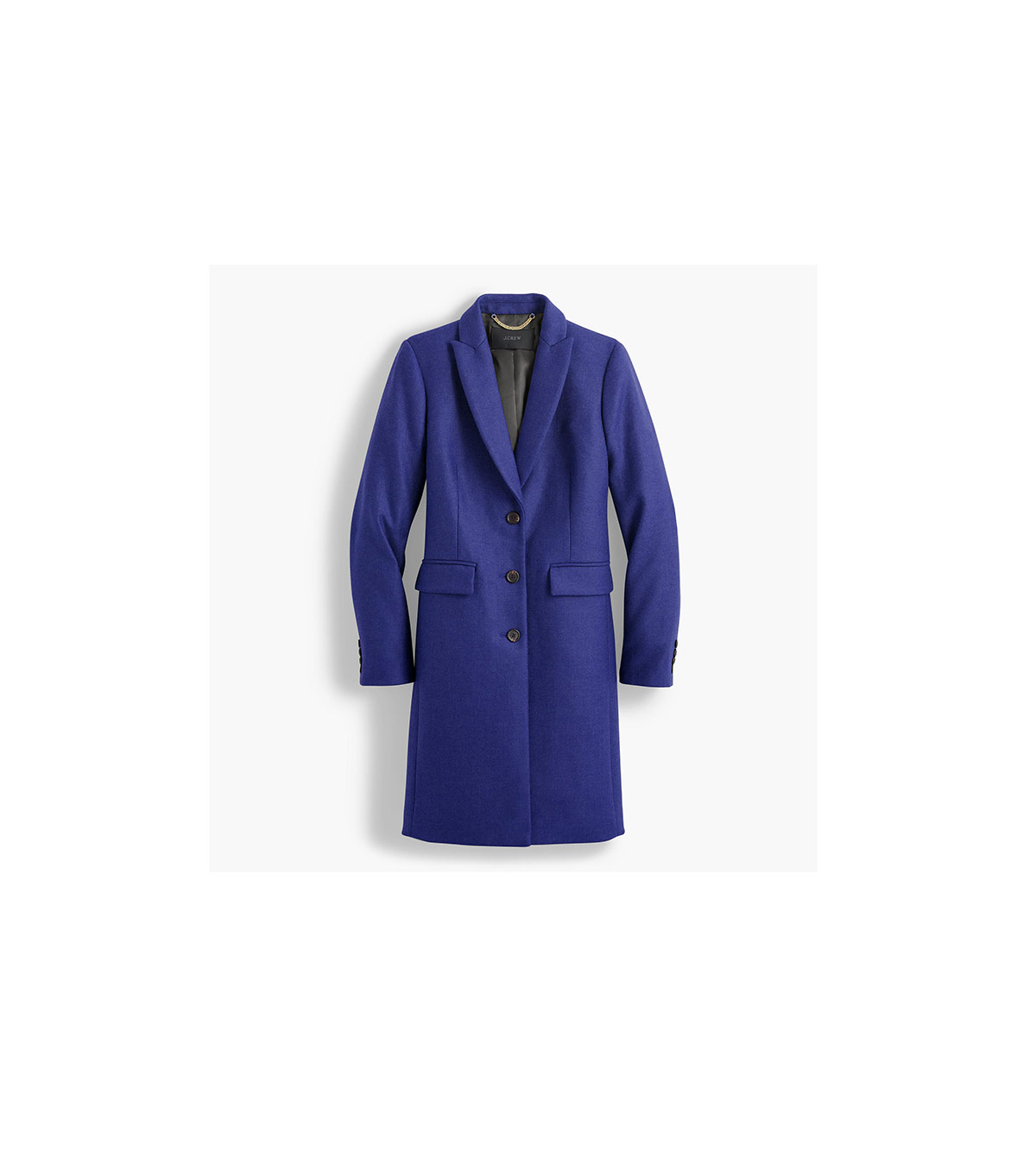 08a1d235cb Ward off the wind chill with this wool coat. The sophisticated silhouette  makes it a must-have if you're in need of everyday office outerwear.