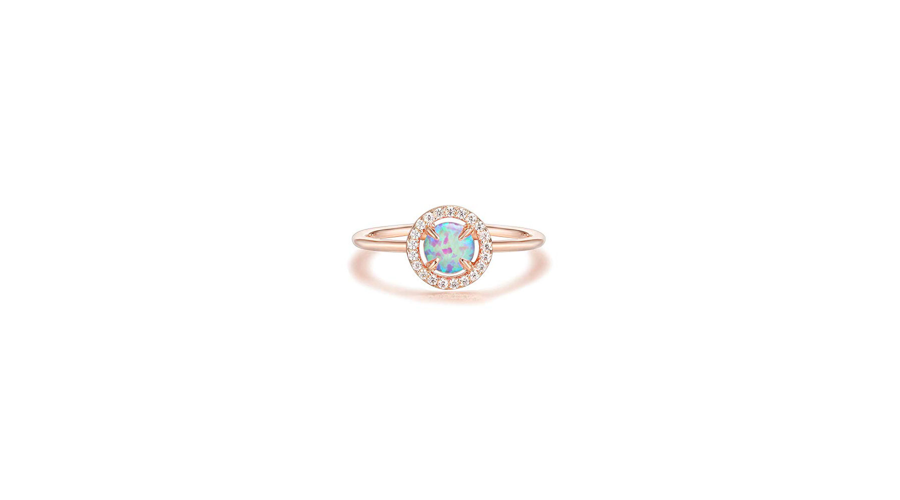 PAVOI 14K Gold Plated Opal Ring