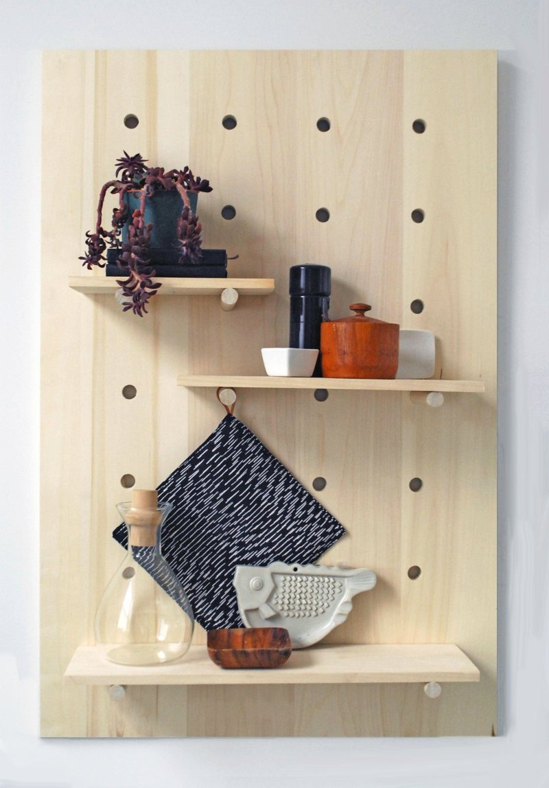 Keep Things Off the Counter With Pegboard Storage