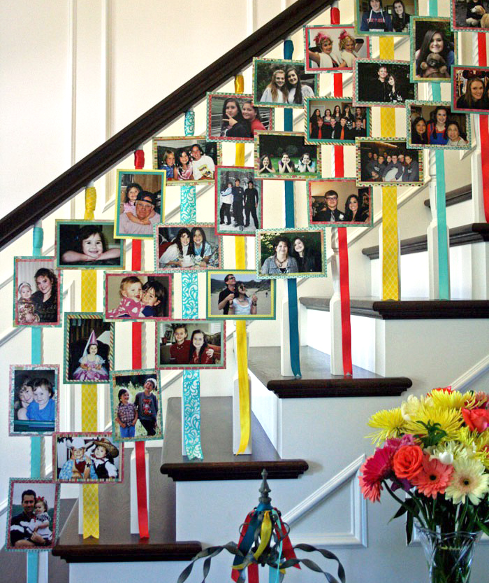 Photo-Adorned Stairs