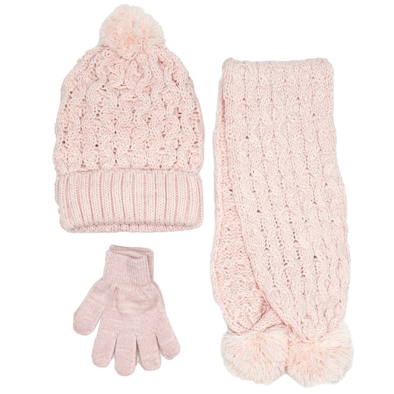 Pink Cable Knit Kids