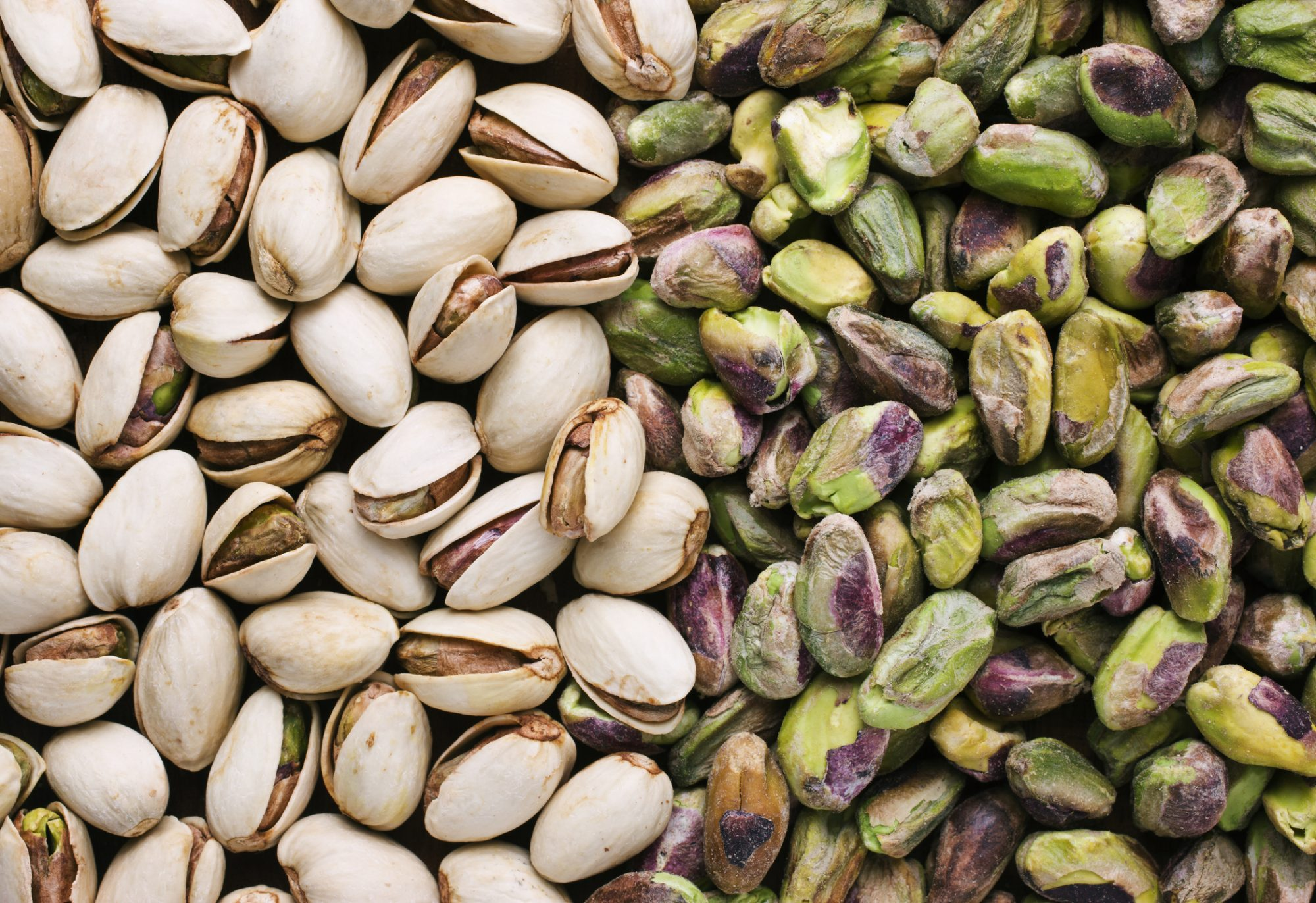 Pistachios both shelled and unshelled