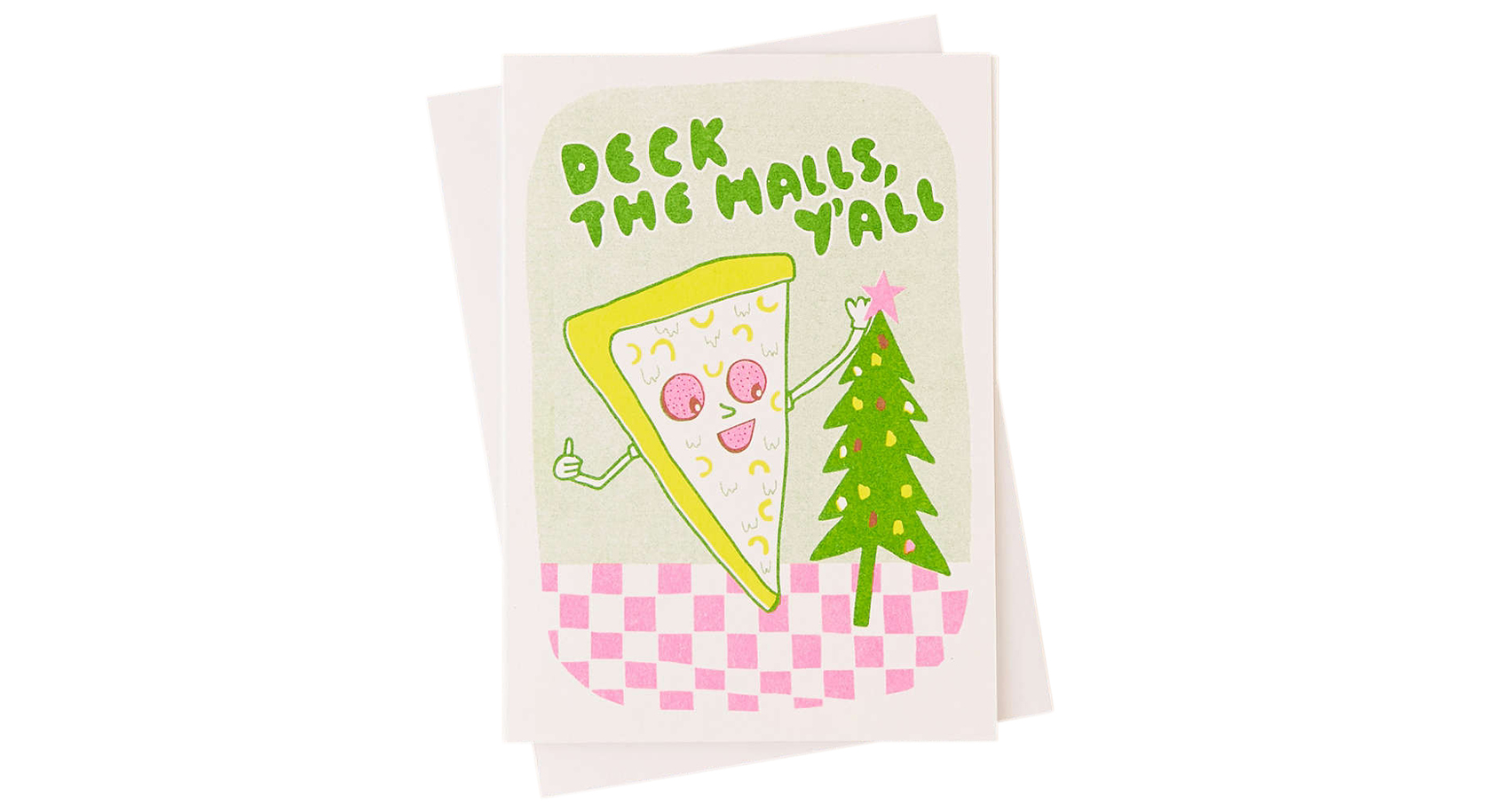 Pizza Deck the Halls Holiday Card