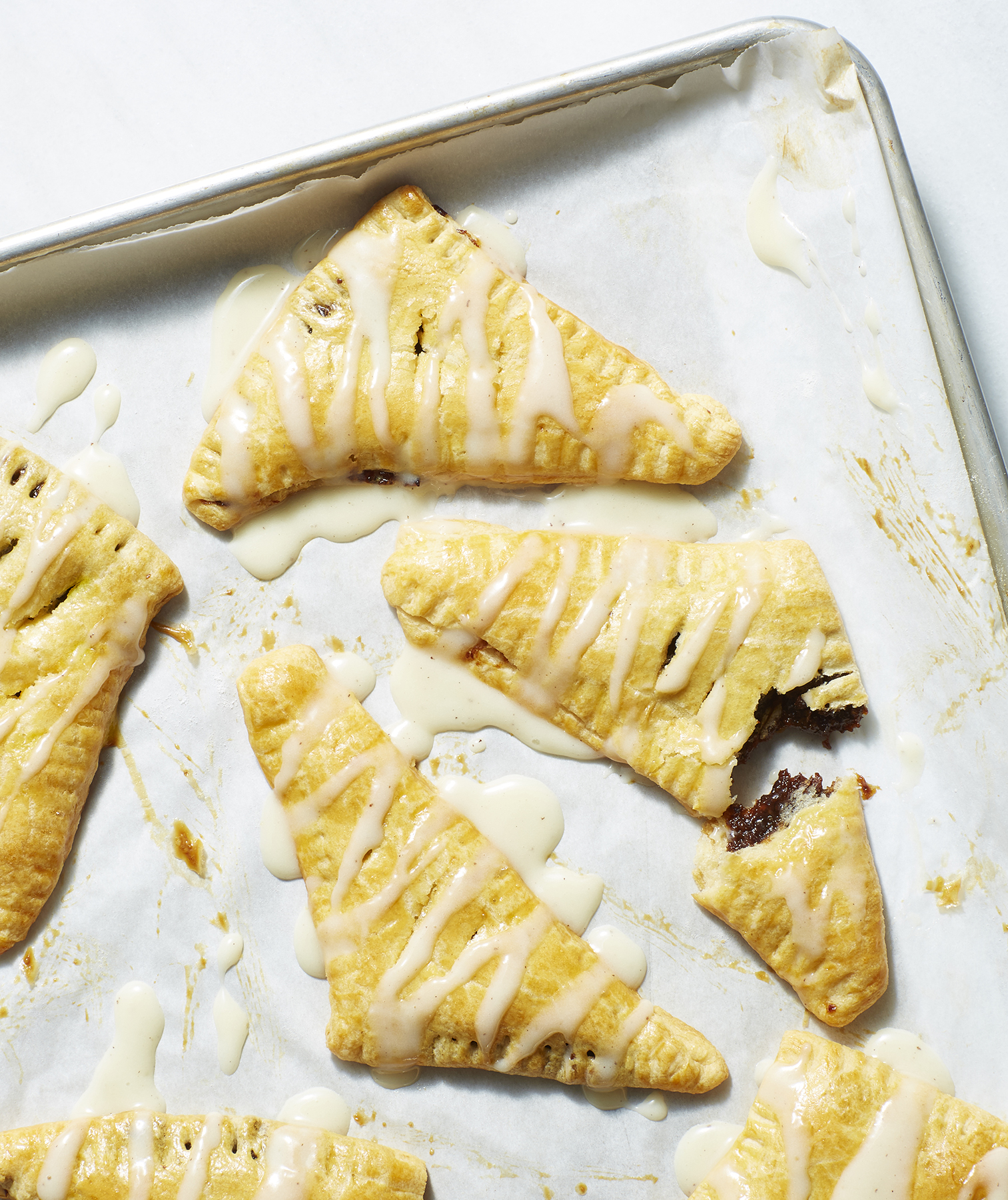 Plum and Ginger Turnovers With Brown Butter Cream Cheese Glaze