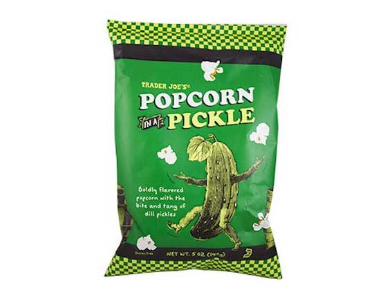Popcorn in a Pickle; $1.99
