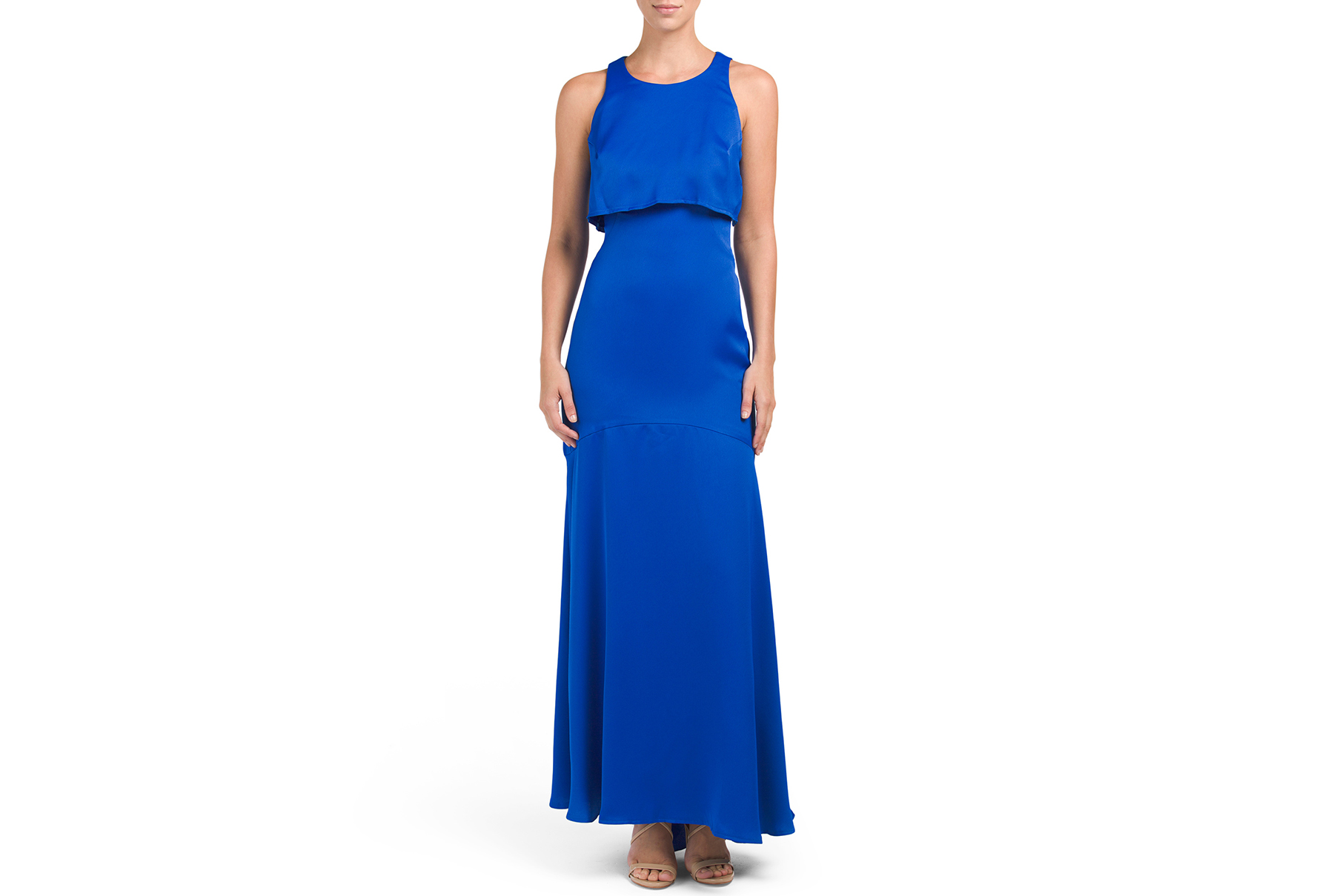 Nicole Miller New York Popover Cutout Back Gown