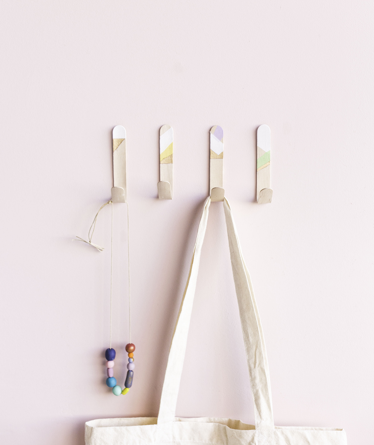 Easy Popsicle-Stick Wall Hooks