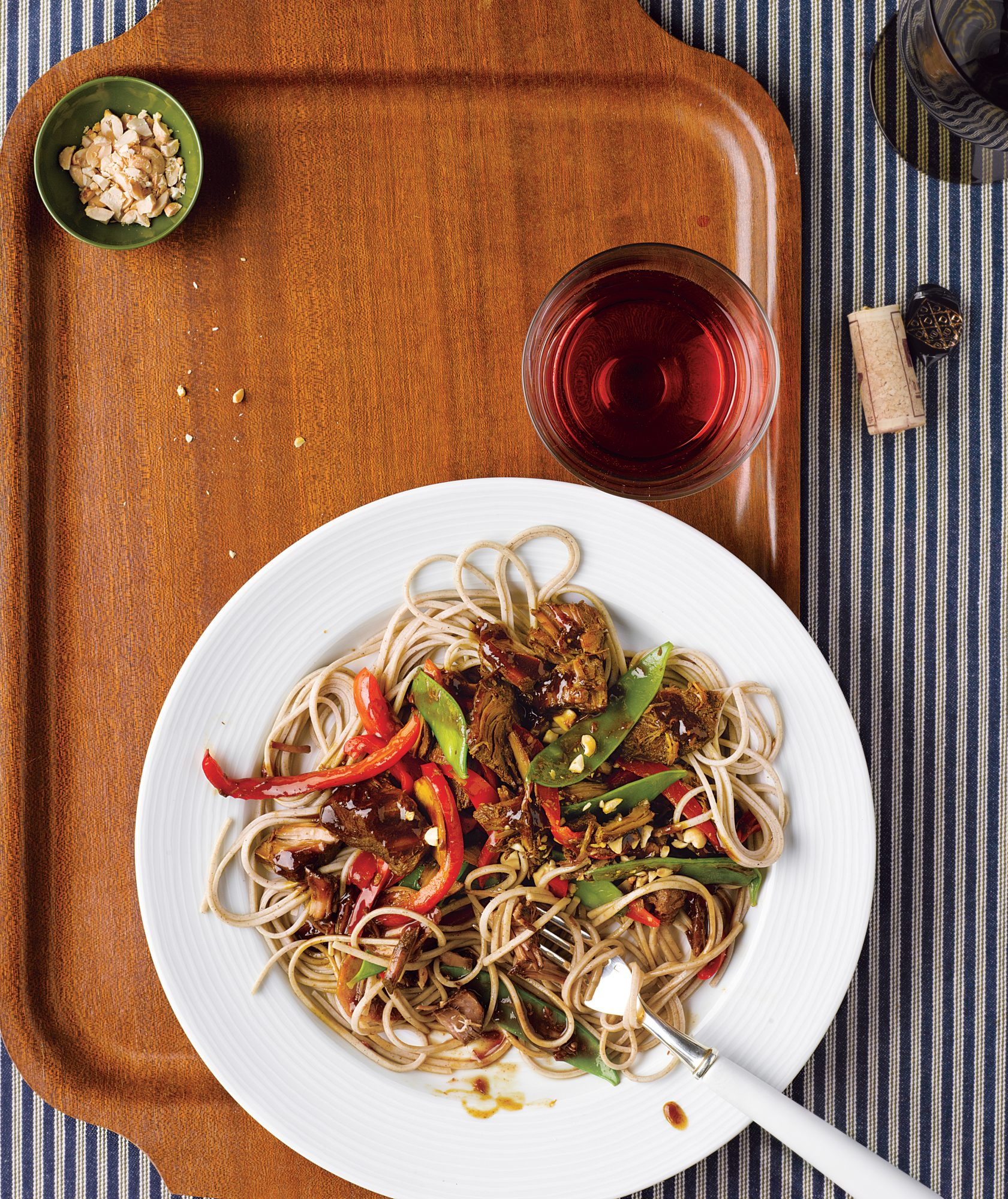 Slow-Cooker Asian Pork With Snow Peas, Red Peppers, and Soba Noodles (6 Delicious Soba Noodle Recipes)