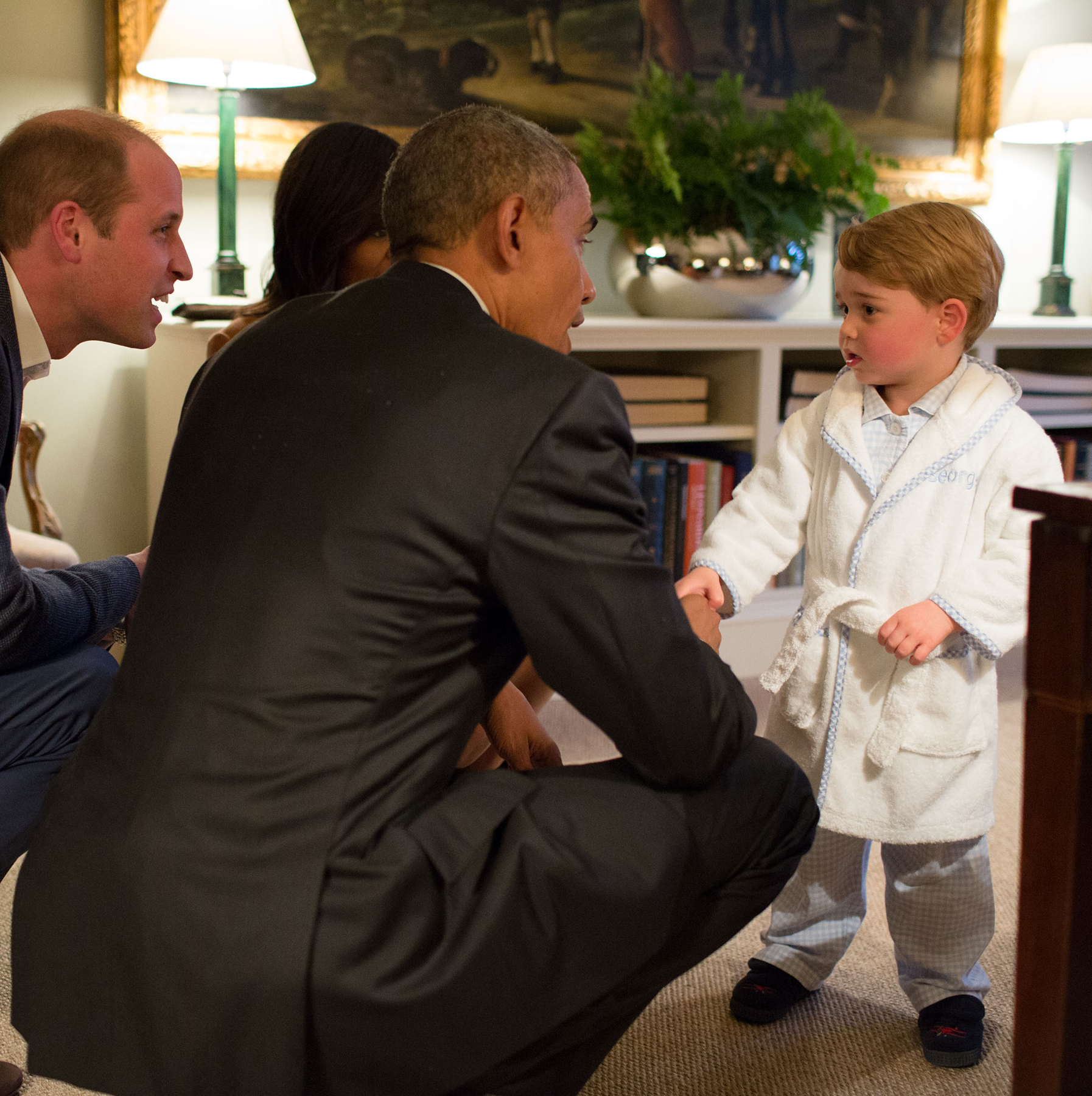 Meeting President Obama in His Robe