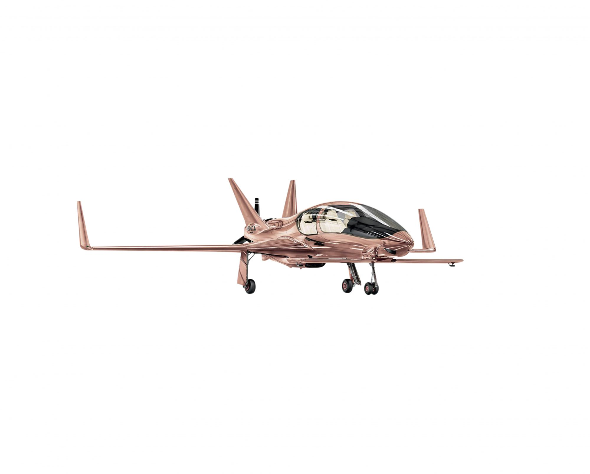 Private Plane in Rose Gold