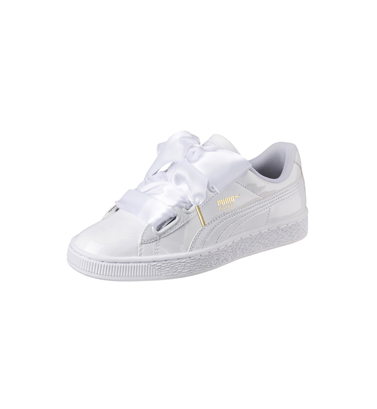 Puma White Bow Sneakers