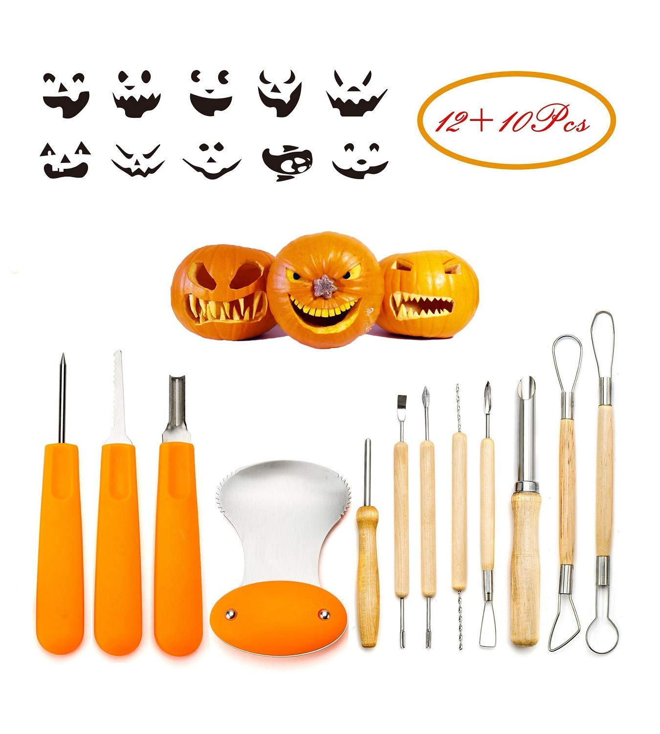 Pumpkin Carving Tools, Complete Kit