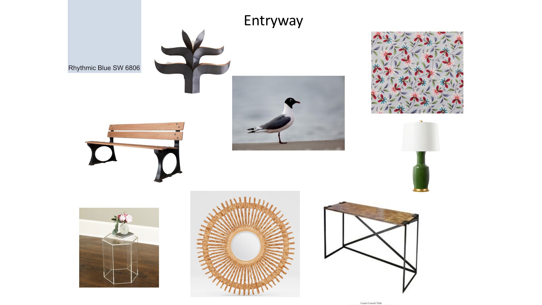 RS Home entryway mood board example