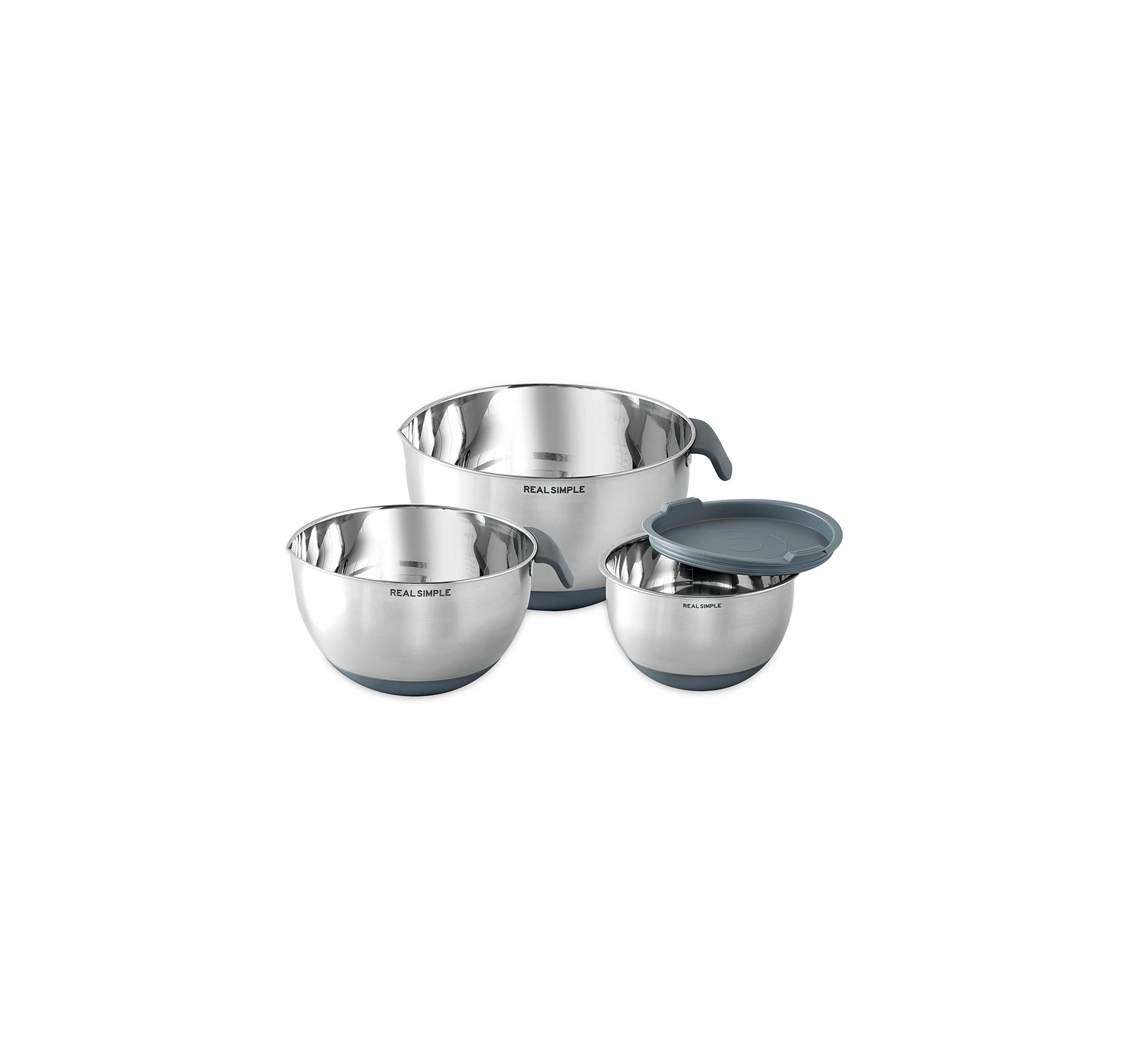 Real Simple Stainless Steel Mixing Bowl Set