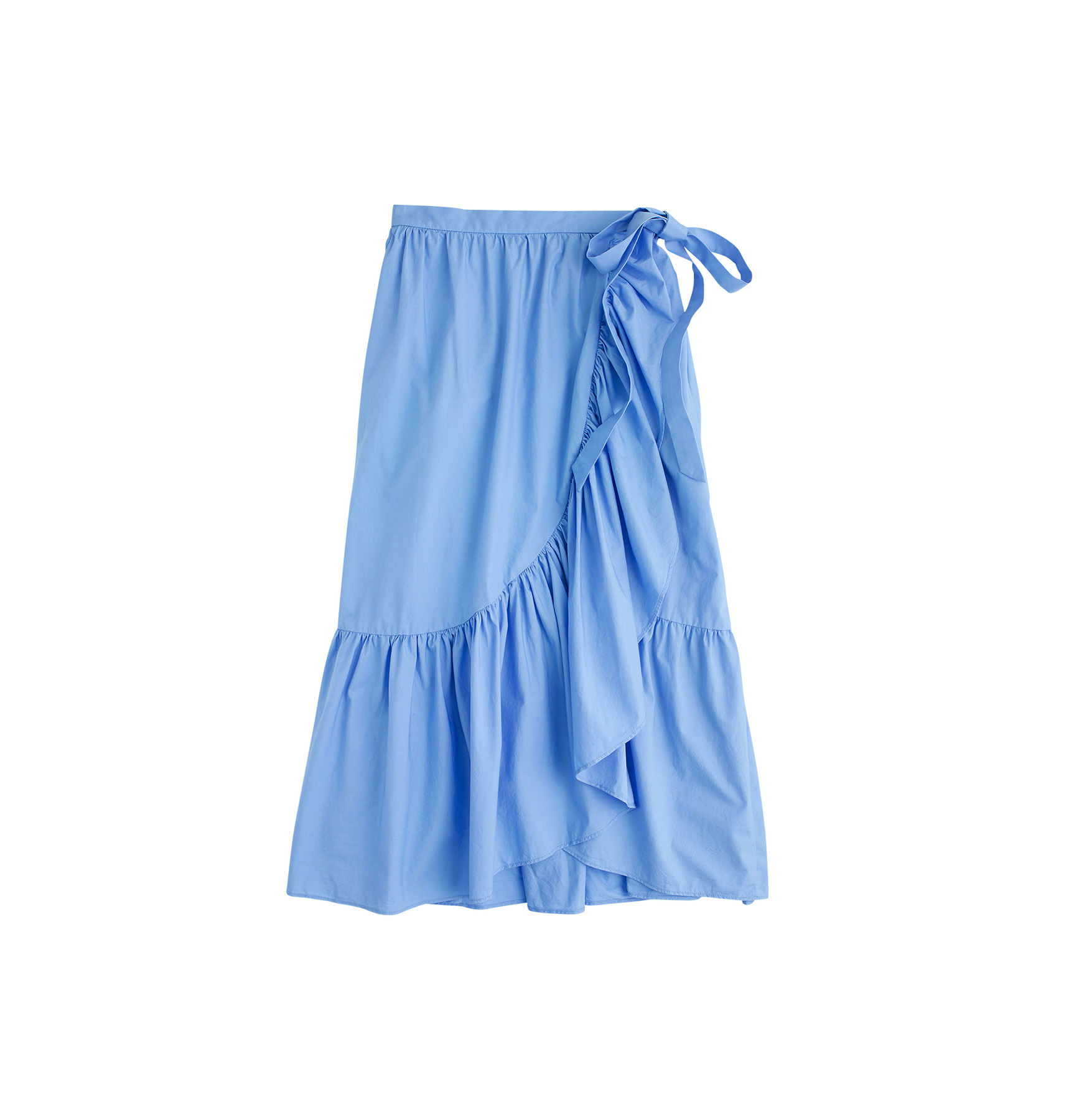 J. Crew Ruffle Wrap Skirt in Cotton Poplin