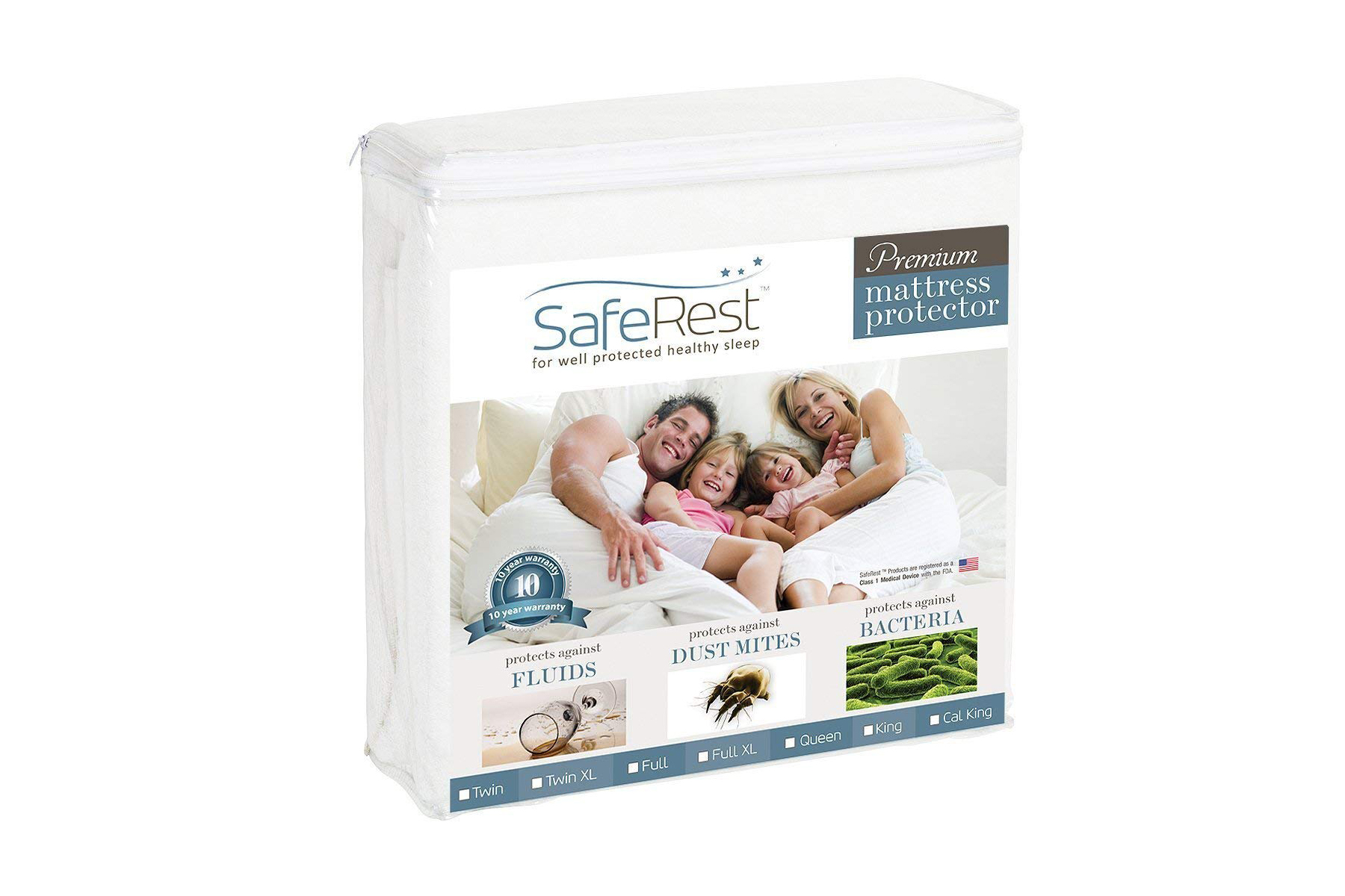 SafeRest Hypoallergenic Waterproof Mattress Protector