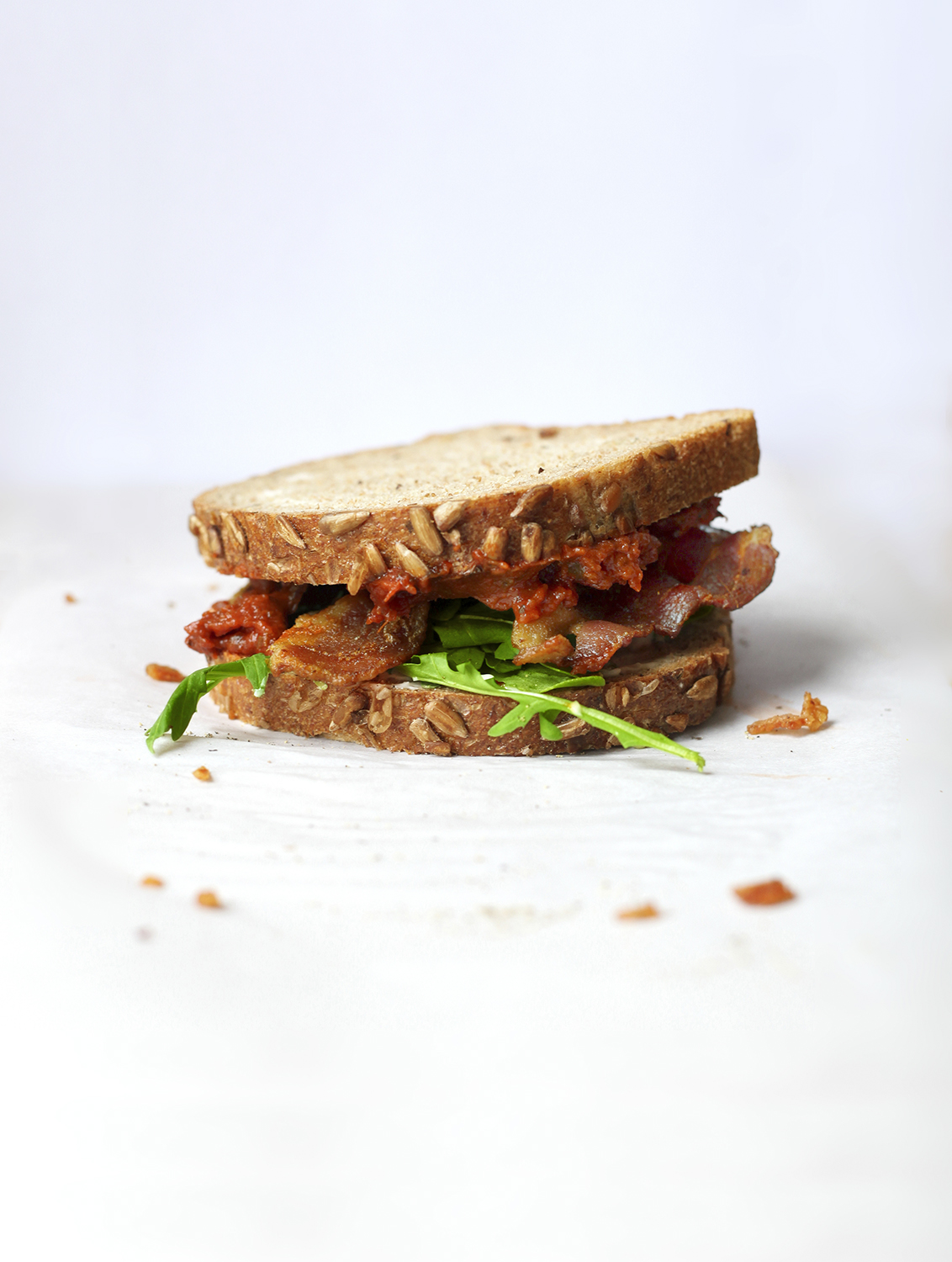 Bacon, Arugula, and Tomato Jam Sandwich