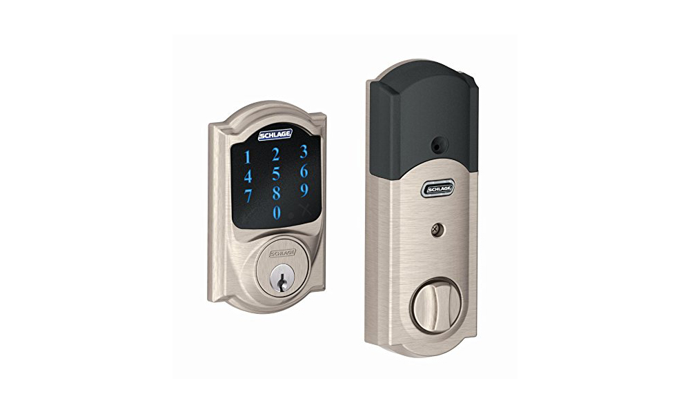 Schlage Z-Wave Connect Camelot Touchscreen Deadbolt with Built-in Alarm (Amazon Alexa Compatible Products)