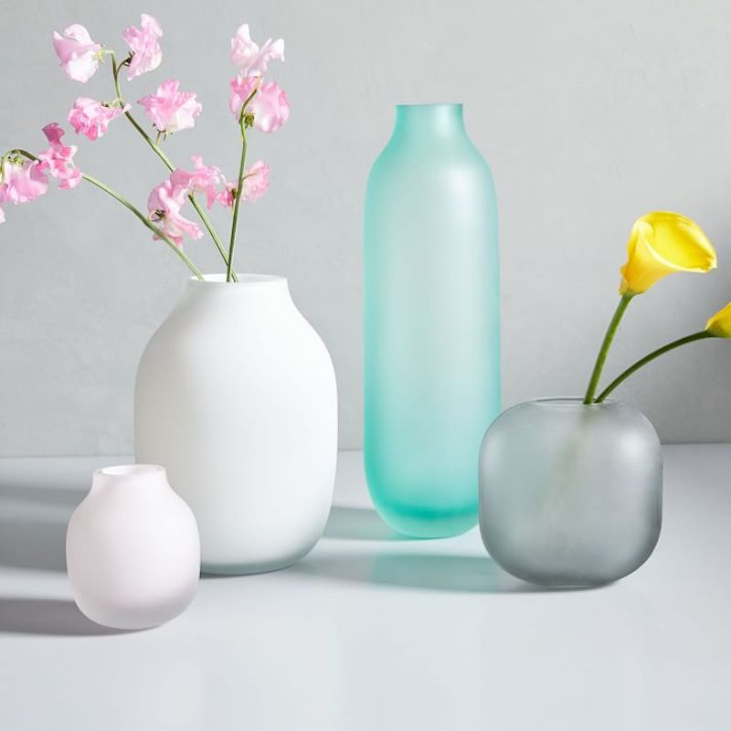 West Elm Sea Glass Vases