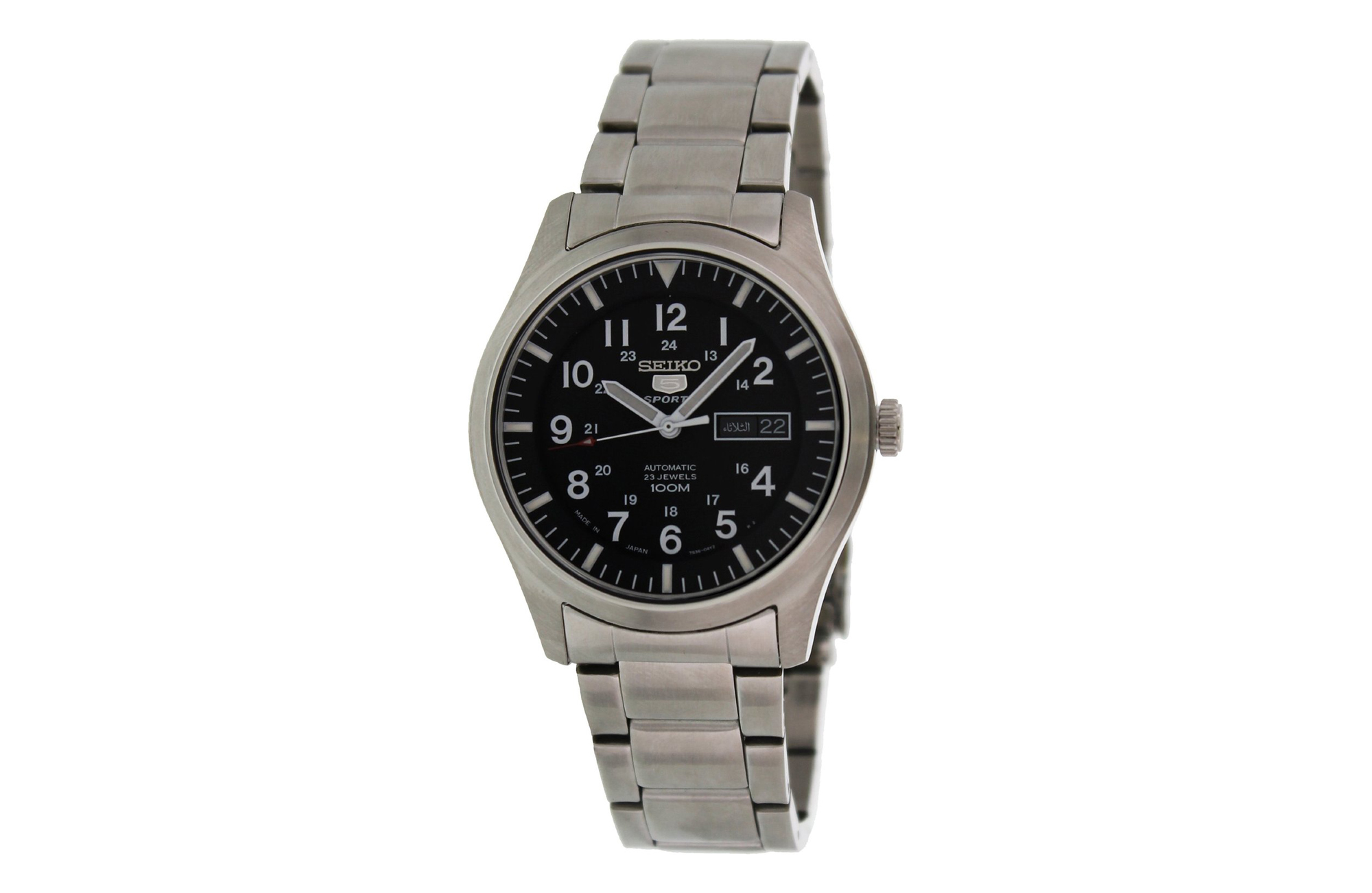 Seiko 5 Automatic Black Dial Stainless Steel Watch