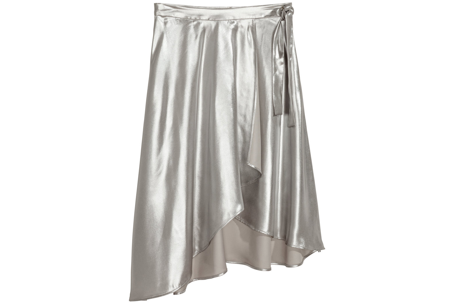 H&M Shimmering Metallic Wrap Skirt