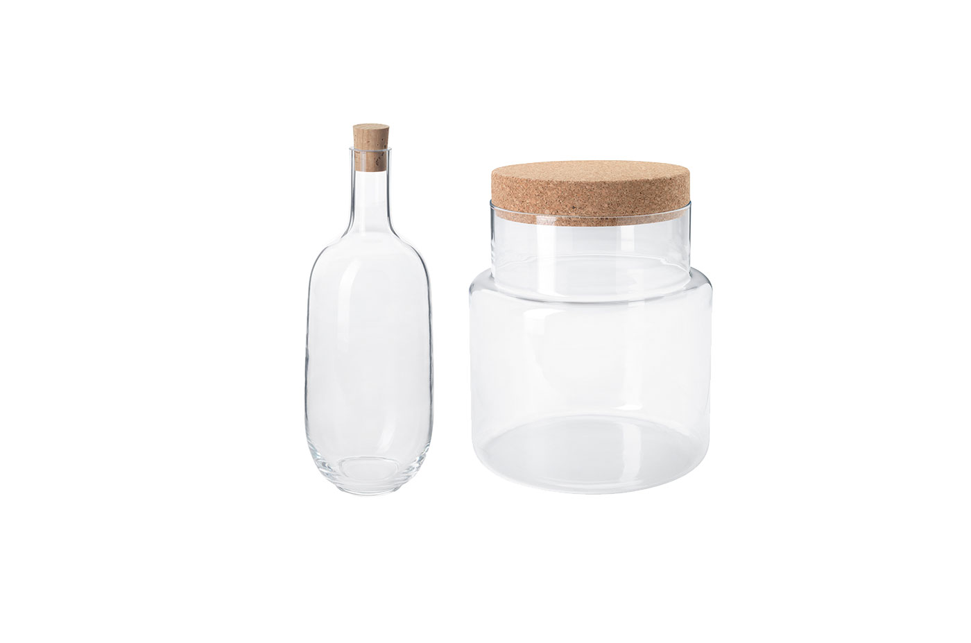 SINNERLIG Bottle and Jar With Lid