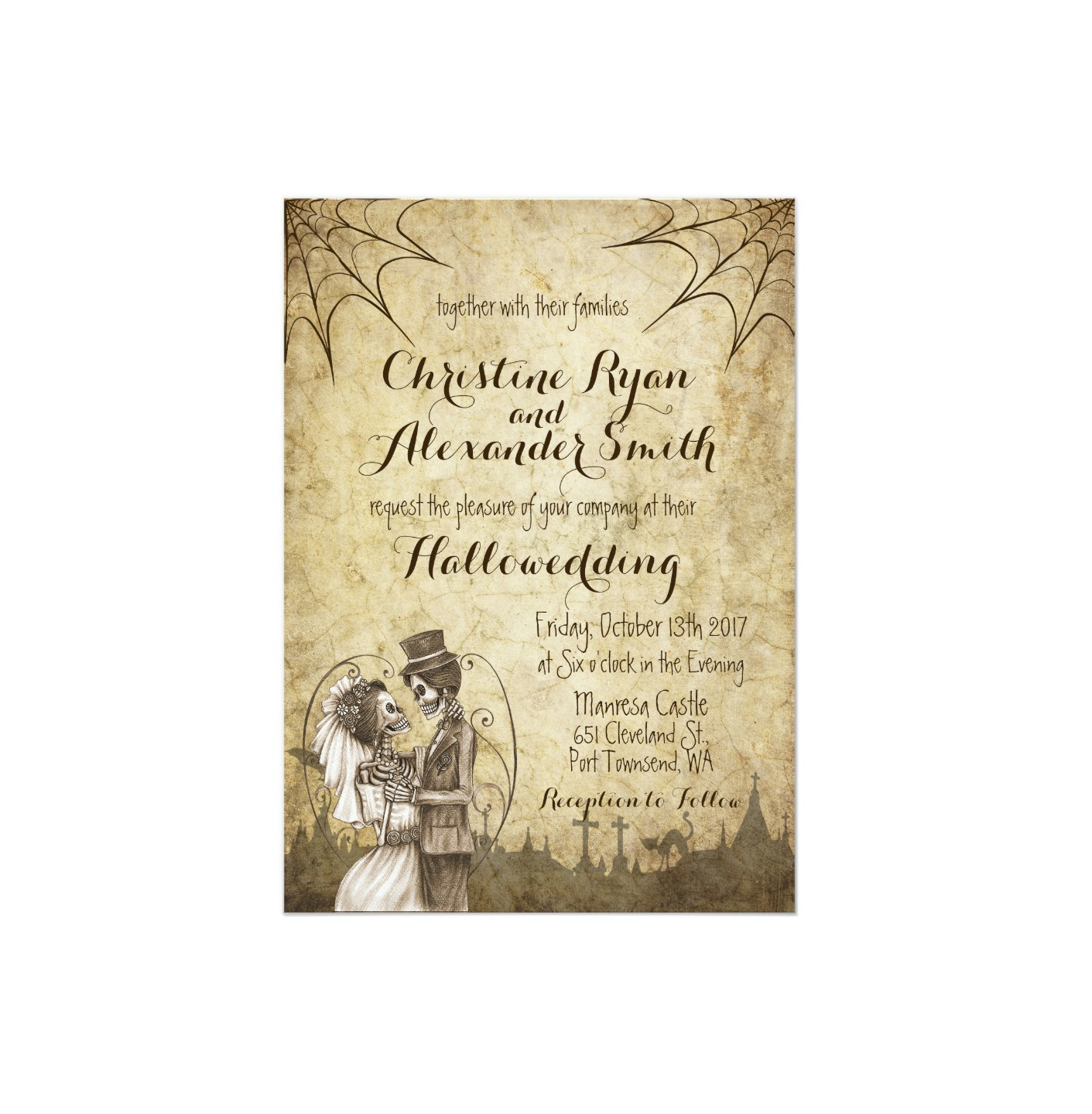 Halloween Wedding Invitations Your Guests Will Love – Halloween Wedding Reception Invitations