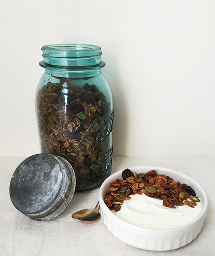 Honey Nut Granola with Cherries