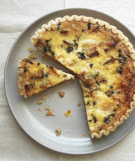 Bacon, Sage, and Butternut Squash Quiche