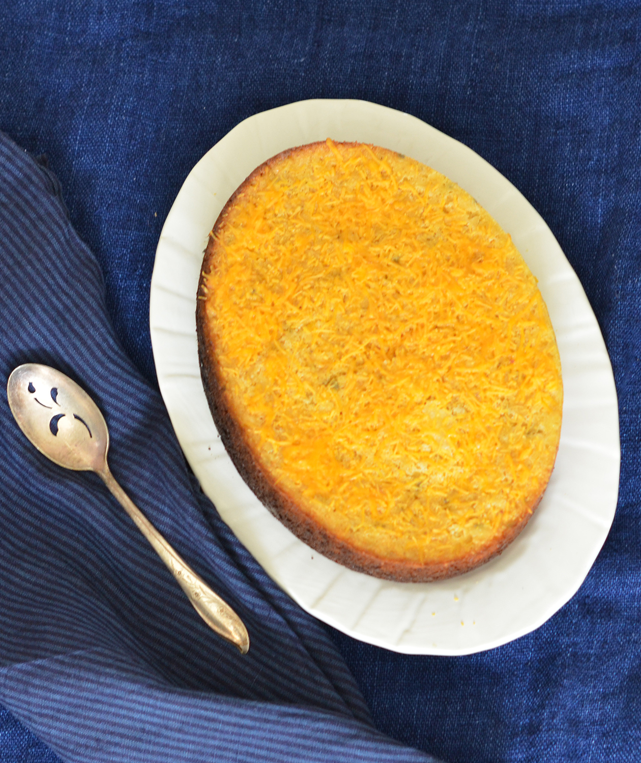 Corn Spoon Bread with Sharp Cheddar and Sage