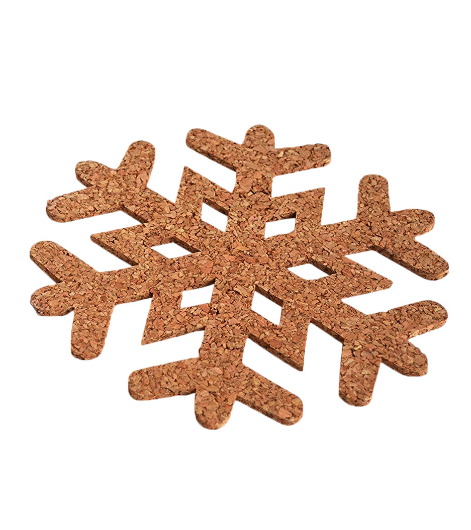 The Path Less Traveled Snowflake Cork Trivet