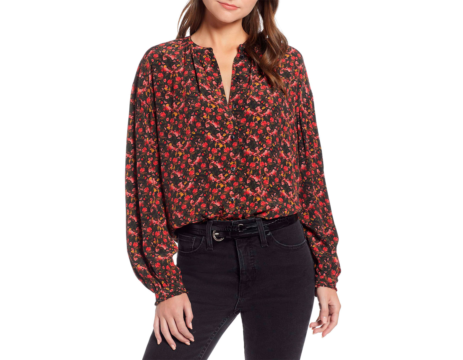 Something Navy x Nordstrom Collection Blouse