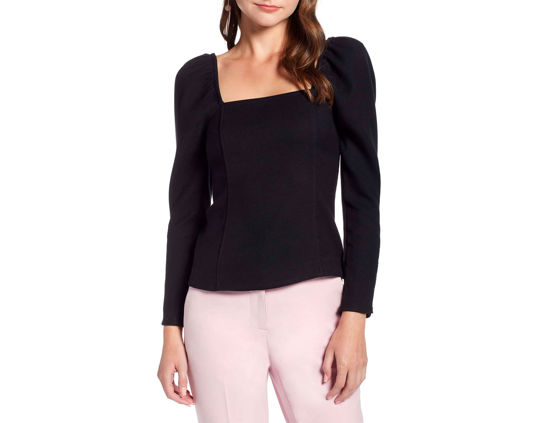 Something Navy x Nordstrom Collection Square Neckline Shirt