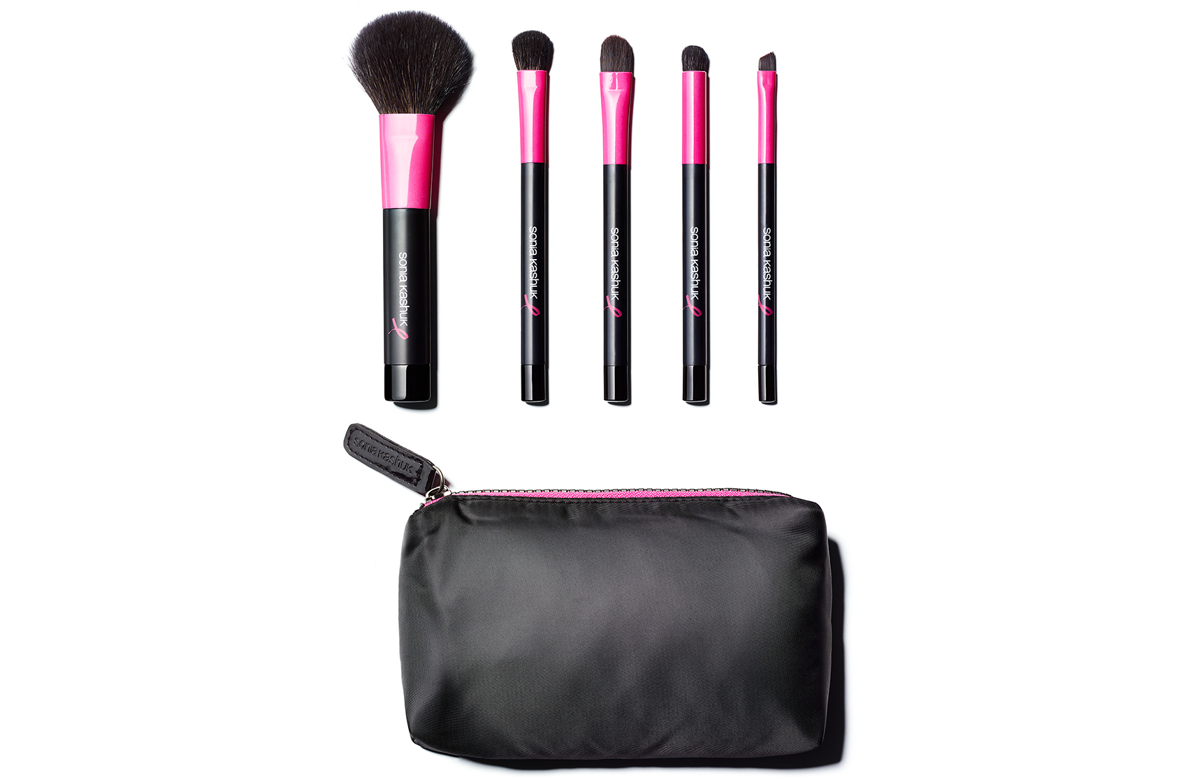 Sonia Kashuk Proudly Pink Five-Piece Purse Brush Set