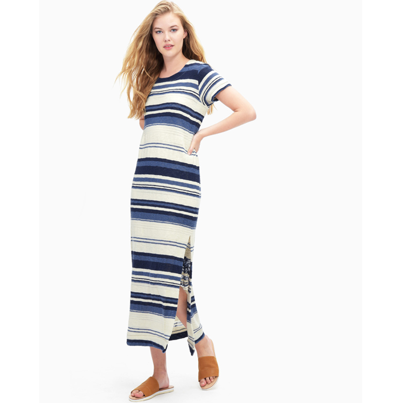 Stripe Maxi T-Shirt Dress