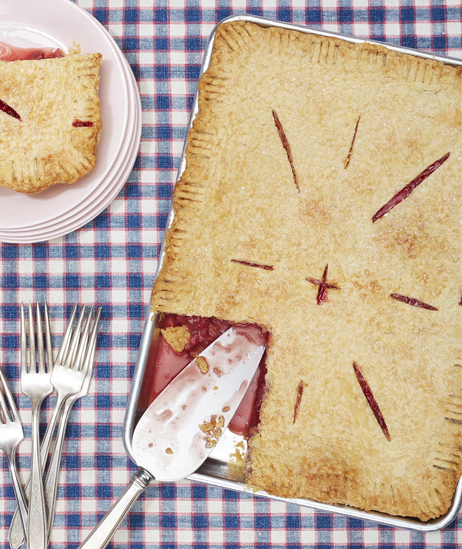 Strawberry Ginger Slab Pie
