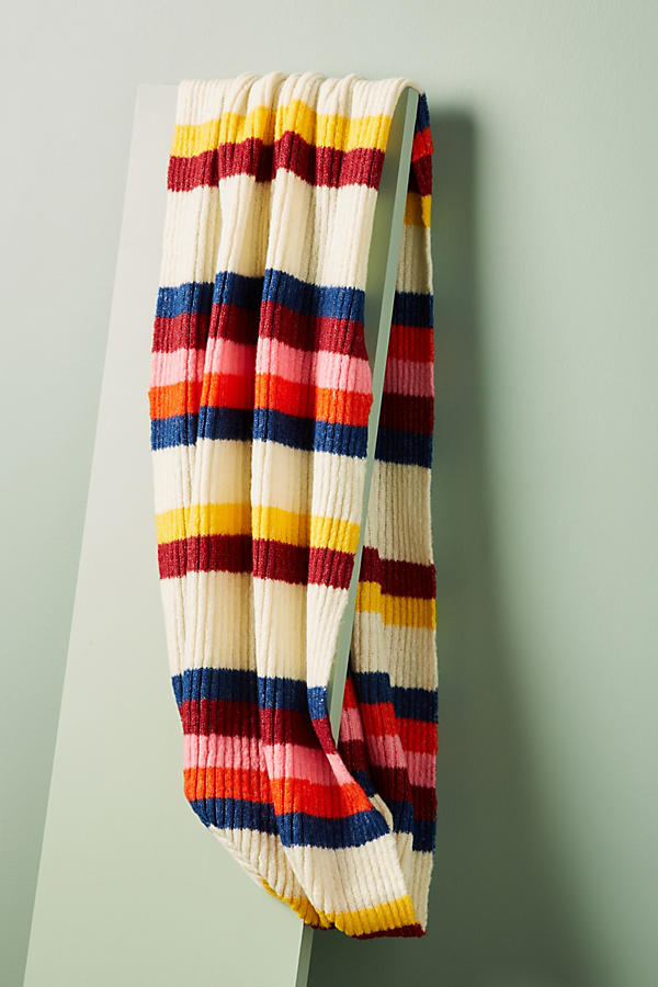 Cheery Striped Infinity Scarf