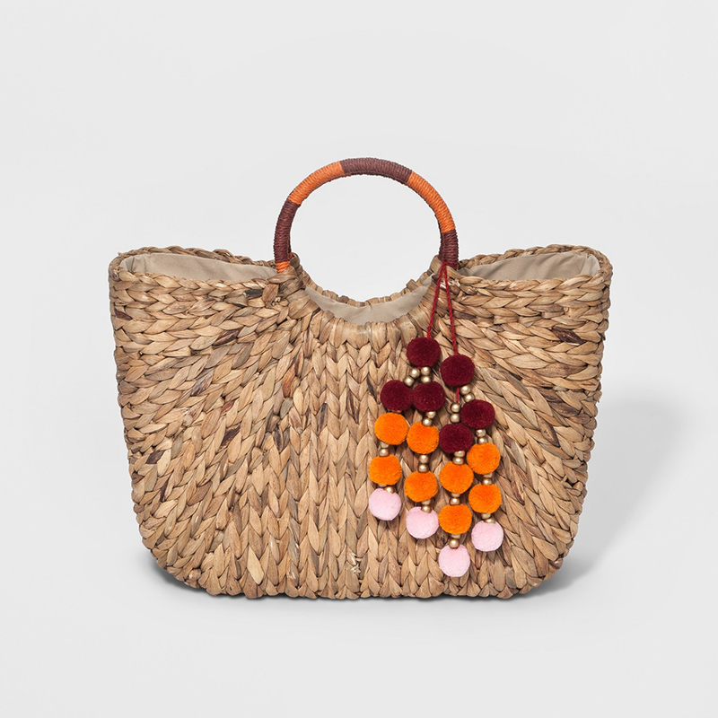 A New Day Round Handle Straw Tote Handbag
