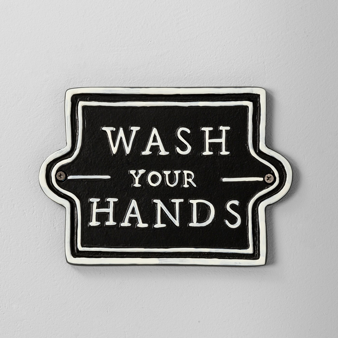 Wash Your Hands Wall Sign