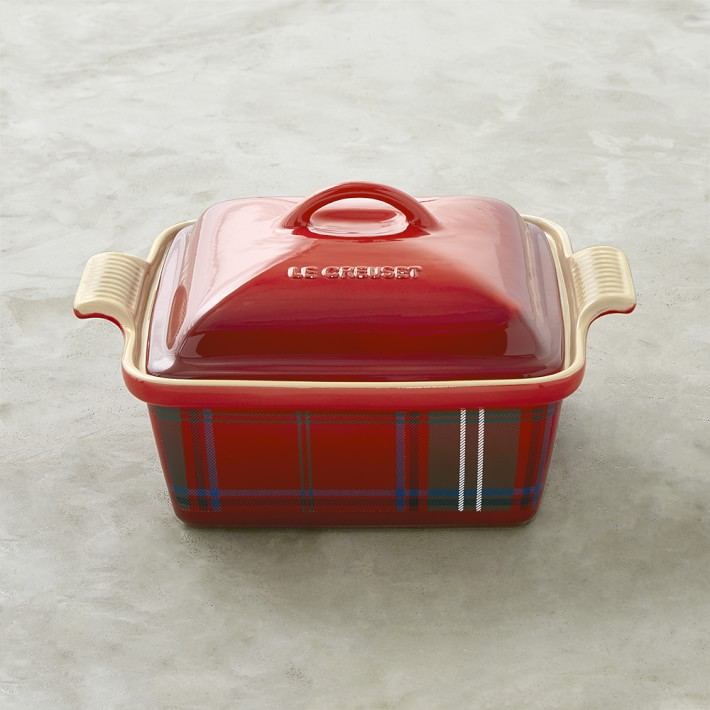 Le Creuset Stoneware Tartan Covered Baker (The Best of Williams Sonoma Holiday)