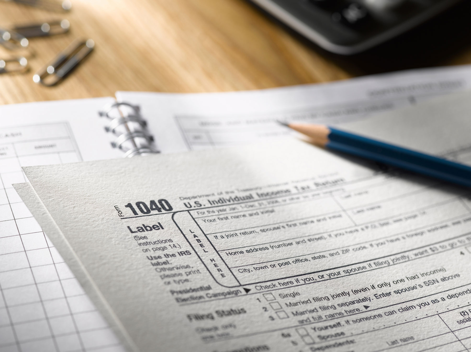 Tax season things to know - 1040 tax return form