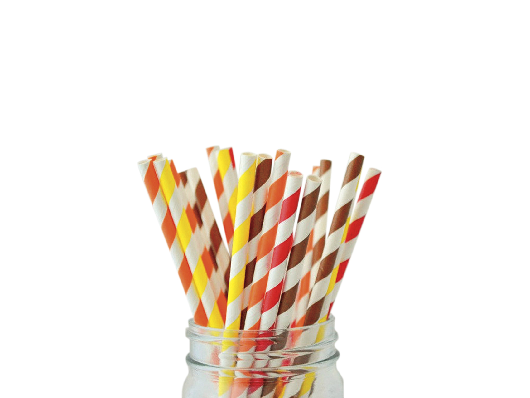 Thanksgiving Paper Straws Mix