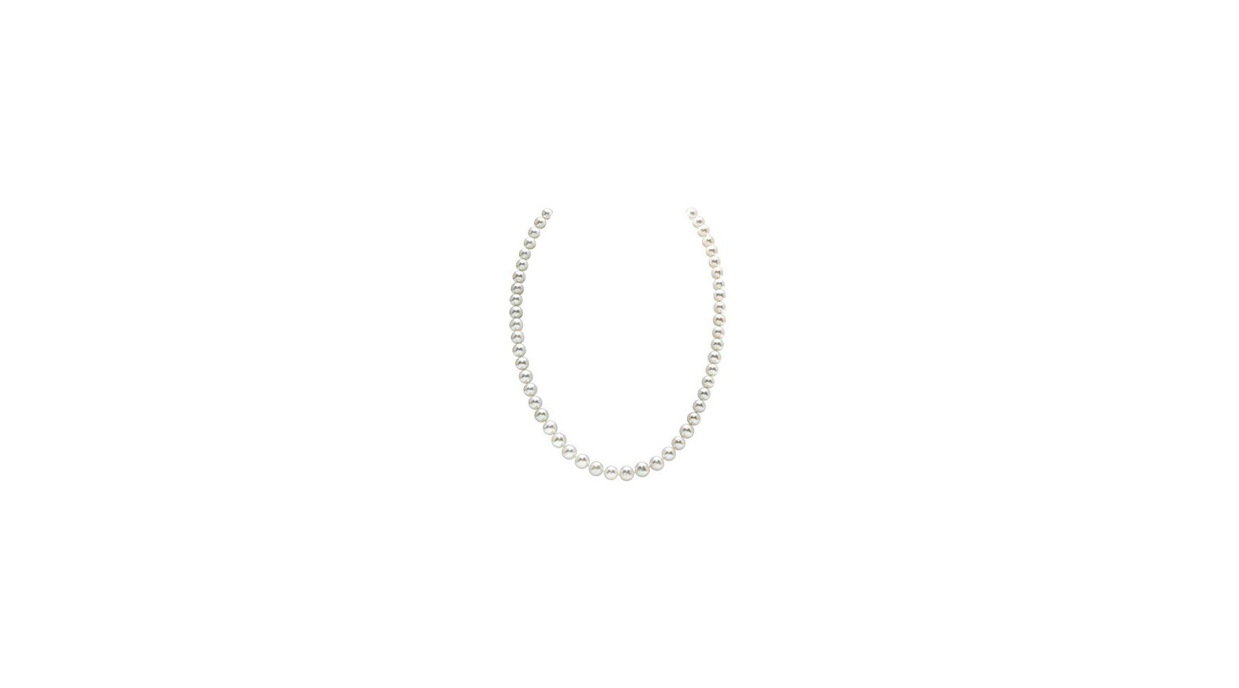 The Pearl Source 14K Gold Freshwater Pearl Necklace