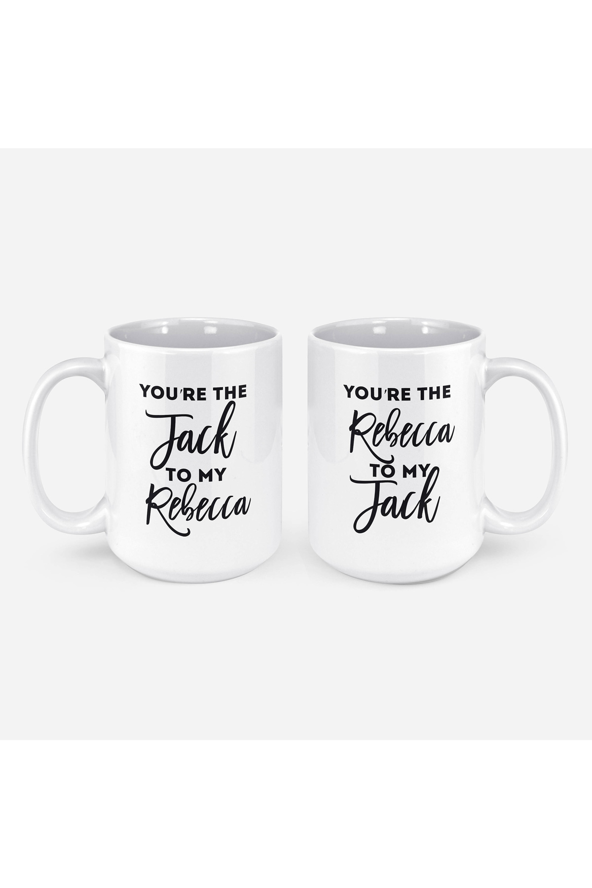 """You're The Jack to My Rebecca"" Mug Set"