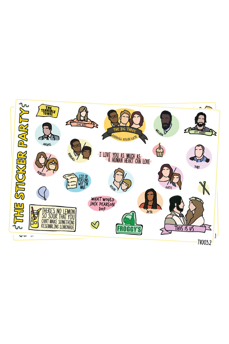 This Is Us Sticker Set