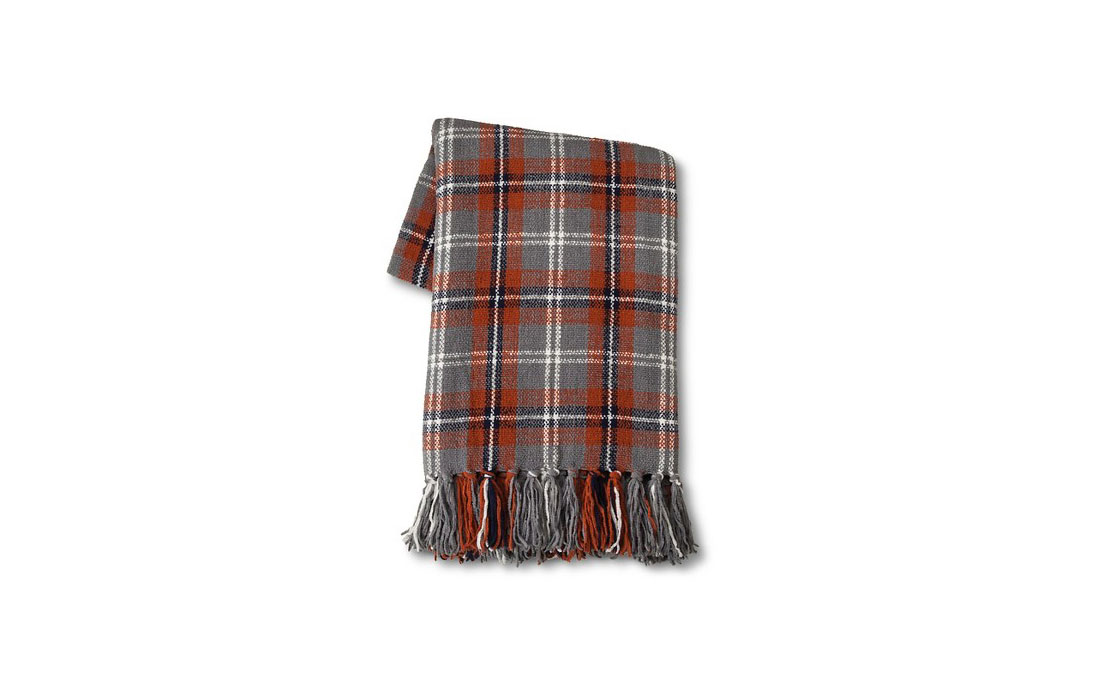 Threshold Plaid Chenille Throw