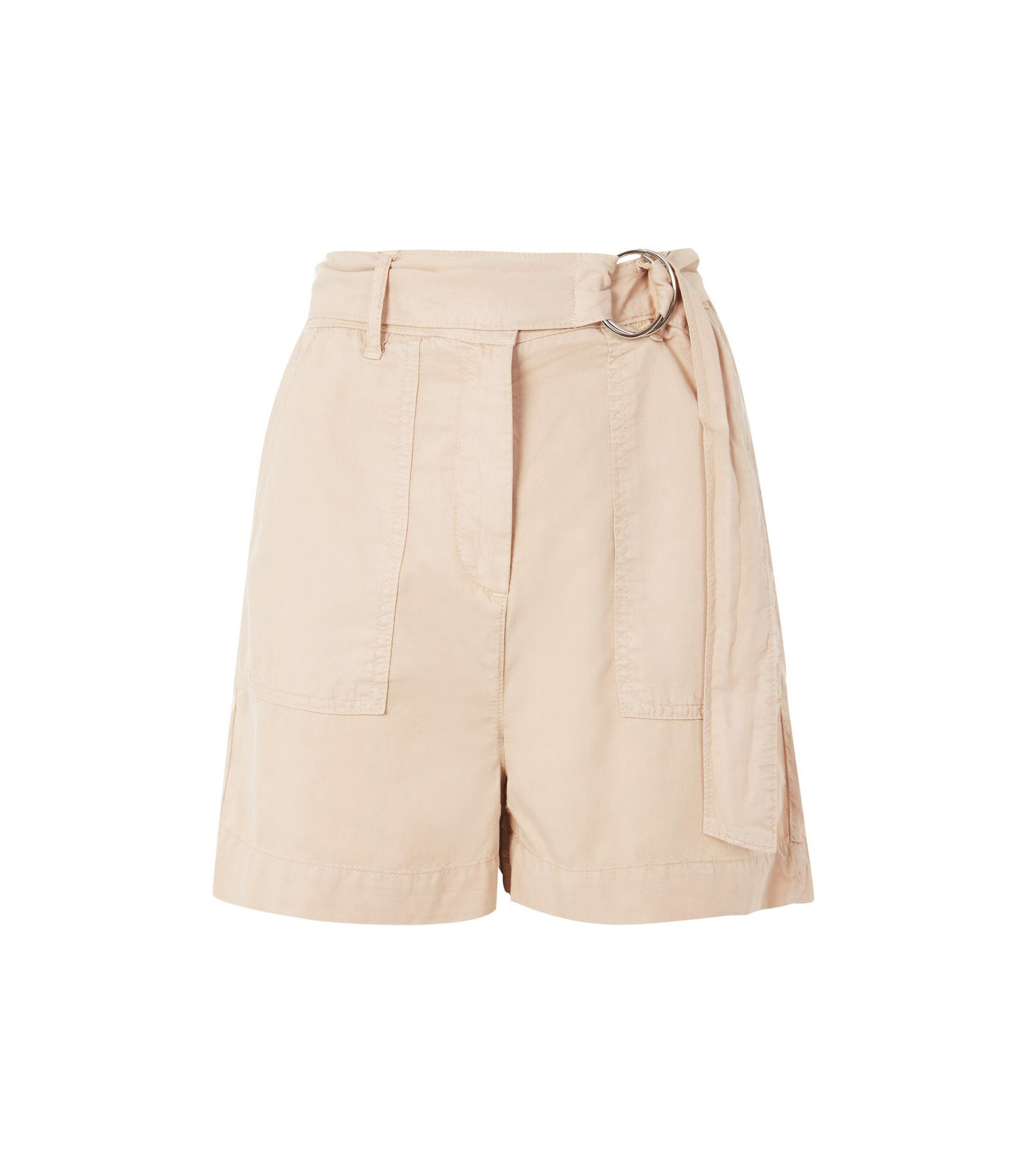 Topshop Washed D-Ring Shorts