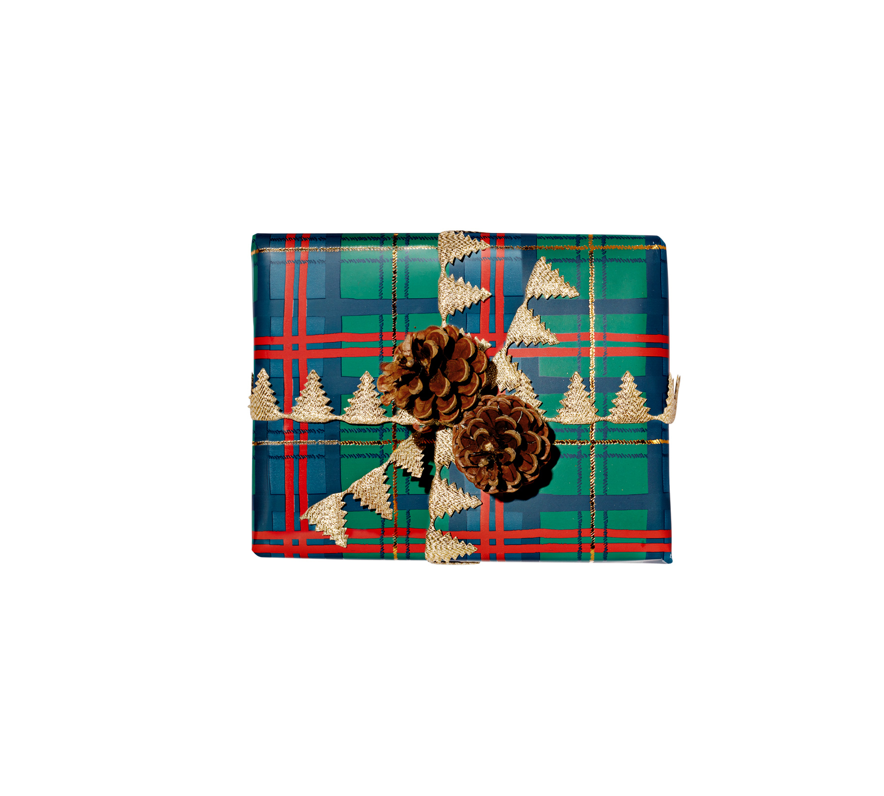 Traditional: Holiday Plaid-Wrapped Gift (1218RAP)