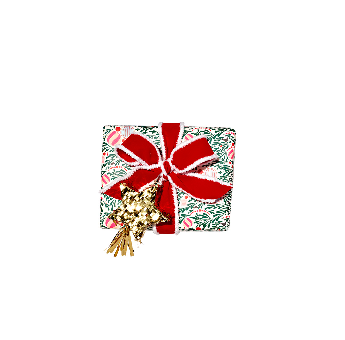 Traditional: Ornate Tree Wrapped-Gift (1218RAP)